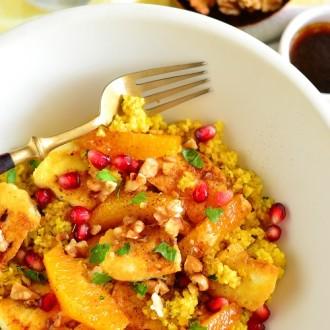 Bulguri salat Lähis-Ida maitsetega