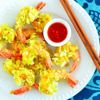 vietnami rohelise riisi krevetid