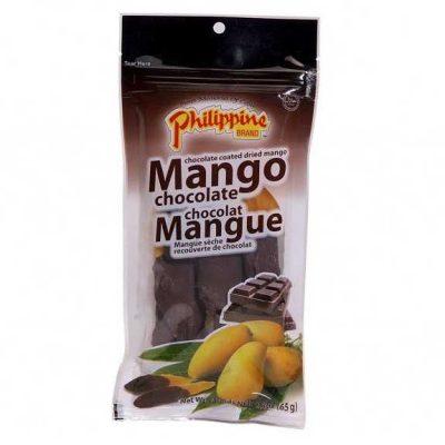 kuivatatud mango sokolaadis