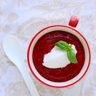 maasika kylmsupp kookose vahukoor
