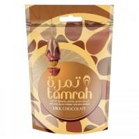 mandliga täidetud dattel piimašokolaadis