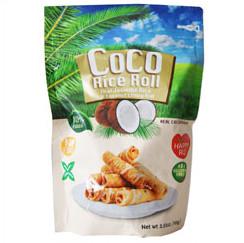 kookose riisi rullid kookospähkli
